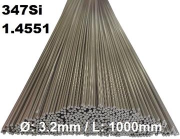 Bild von WIG-Stäbe 1.4551 (347 Si) Ø: 3.2mm