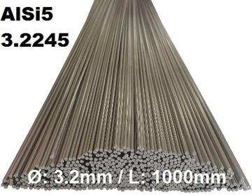 Bild von WIG-Stäbe 3.2245 (AlSi5) Ø:3.2mm